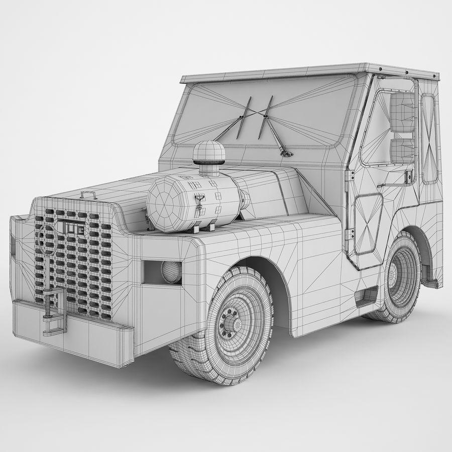 航空機牽引トラクター01 royalty-free 3d model - Preview no. 4