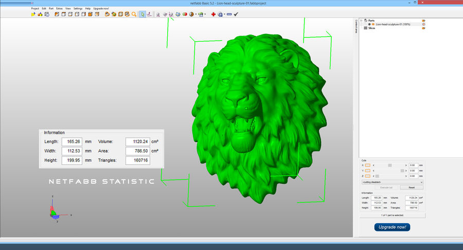Lion Head Sculpture Aggressive royalty-free 3d model - Preview no. 17