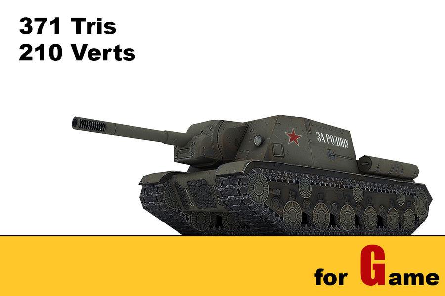 5 Sovyet düşük poli tank royalty-free 3d model - Preview no. 3