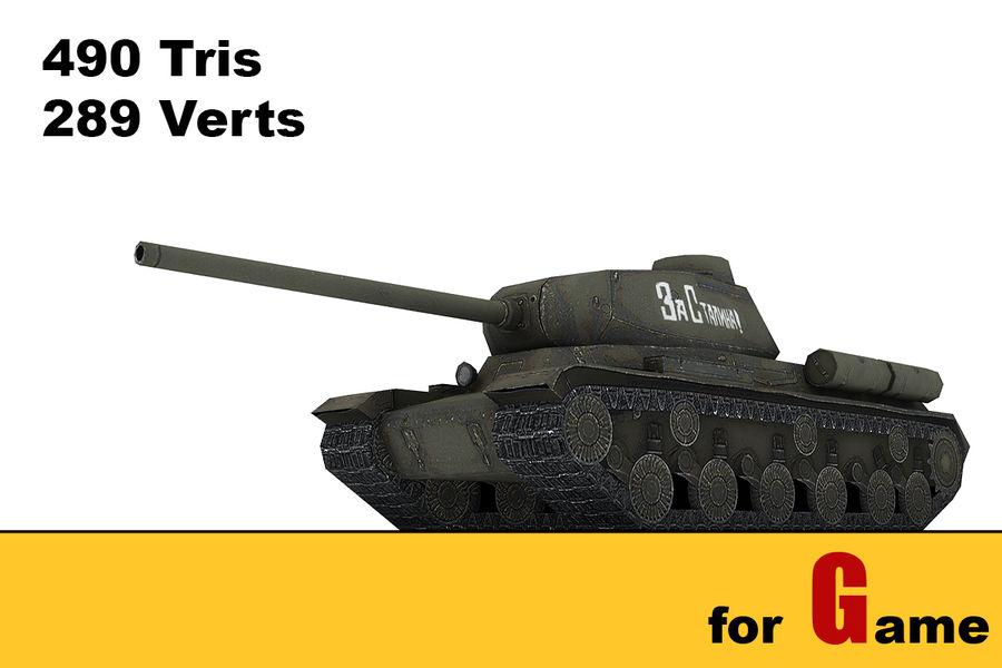 5 Sovyet düşük poli tank royalty-free 3d model - Preview no. 2