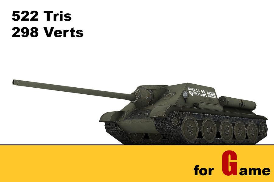 5 Sovyet düşük poli tank royalty-free 3d model - Preview no. 5