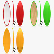 Surfboard Collection 3d model
