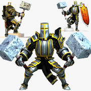Game Knights (Series A) K2a Rigged 3d model