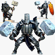 Game Knights (Series A) K2c Rigged 3d model