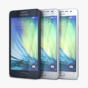 Samsung Galaxy A3 and A3 Duos 3d model
