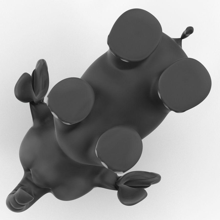 Éléphant de dessin animé royalty-free 3d model - Preview no. 16