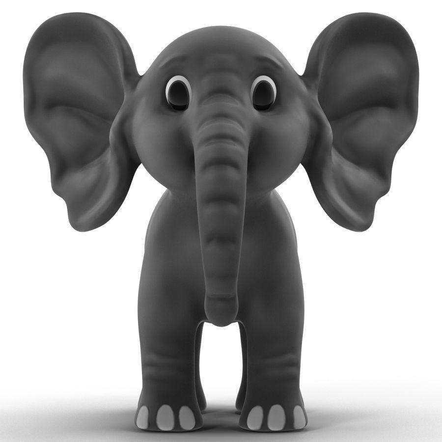 Éléphant de dessin animé royalty-free 3d model - Preview no. 4