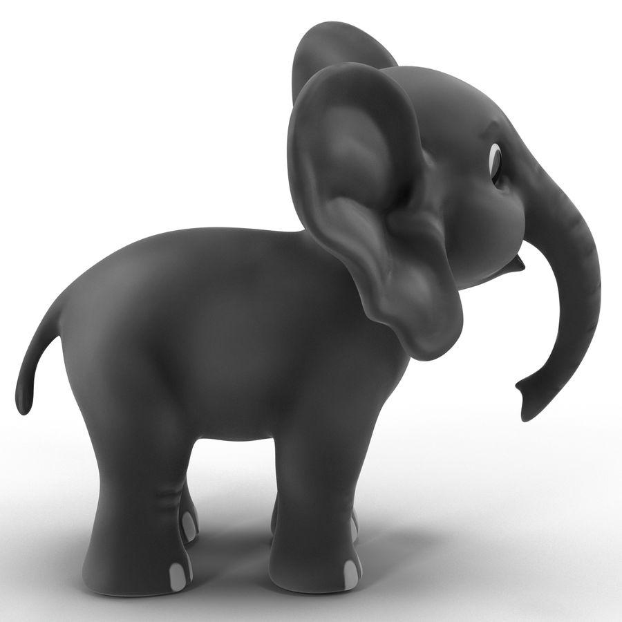 Éléphant de dessin animé royalty-free 3d model - Preview no. 7