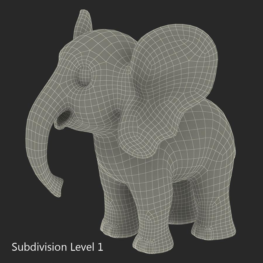 Éléphant de dessin animé royalty-free 3d model - Preview no. 22