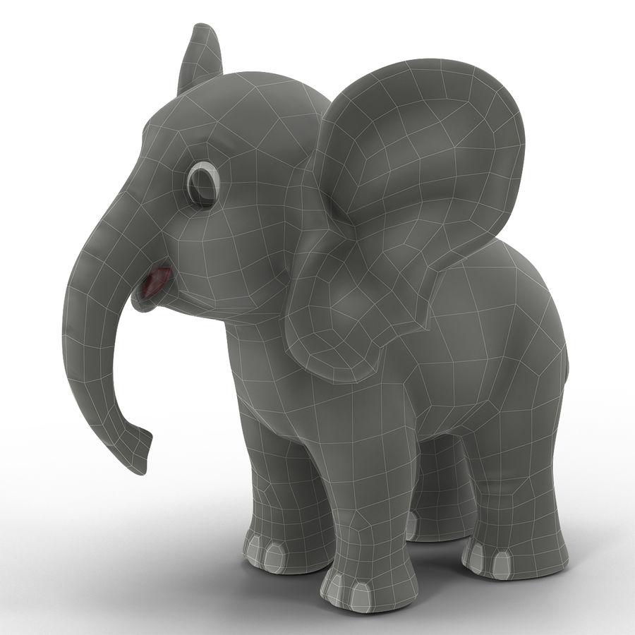 Éléphant de dessin animé royalty-free 3d model - Preview no. 3