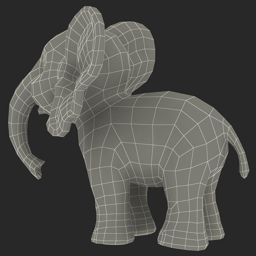 Éléphant de dessin animé royalty-free 3d model - Preview no. 34