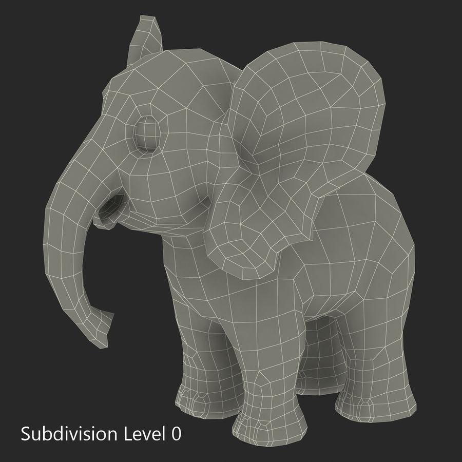 Éléphant de dessin animé royalty-free 3d model - Preview no. 21