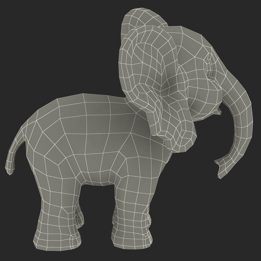 Éléphant de dessin animé royalty-free 3d model - Preview no. 30