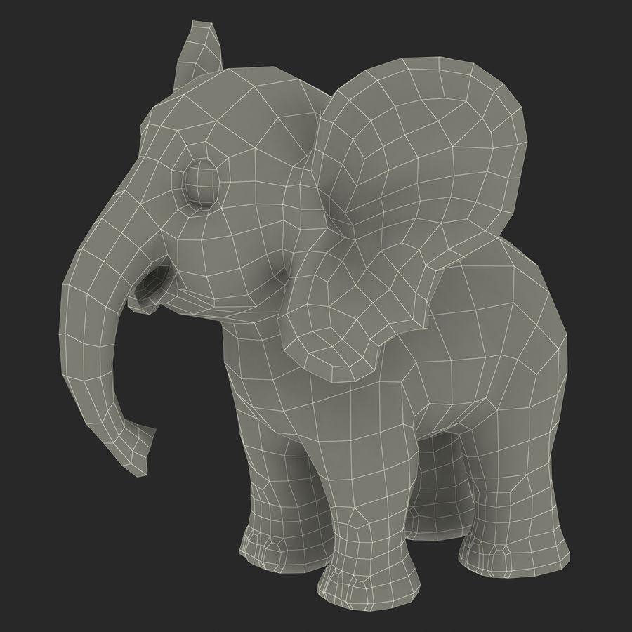 Éléphant de dessin animé royalty-free 3d model - Preview no. 26
