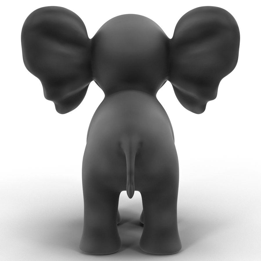 Éléphant de dessin animé royalty-free 3d model - Preview no. 6