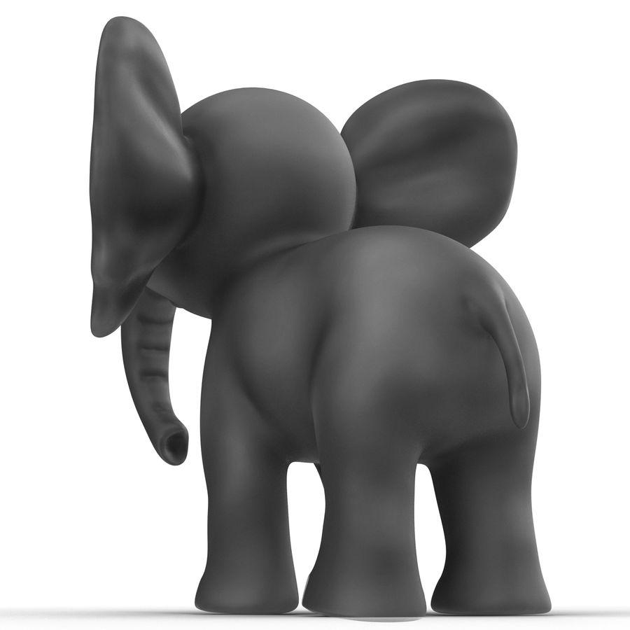 Éléphant de dessin animé royalty-free 3d model - Preview no. 12