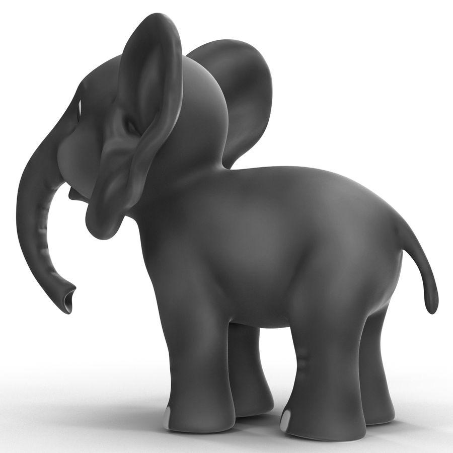 Éléphant de dessin animé royalty-free 3d model - Preview no. 13