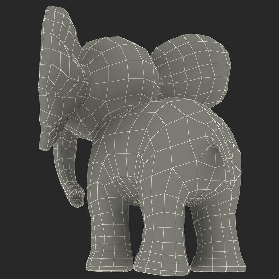 Éléphant de dessin animé royalty-free 3d model - Preview no. 33