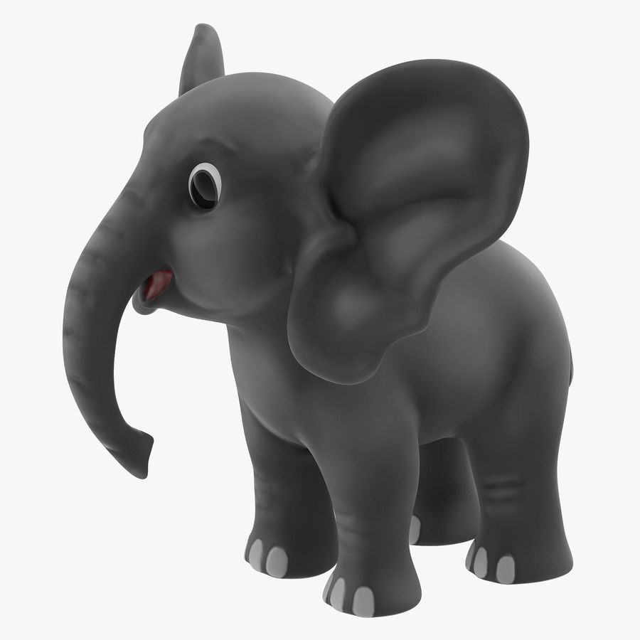 Éléphant de dessin animé royalty-free 3d model - Preview no. 1