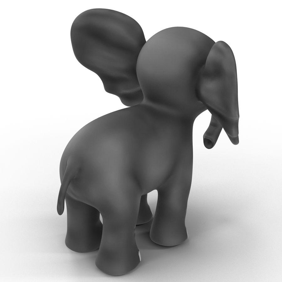 Éléphant de dessin animé royalty-free 3d model - Preview no. 11