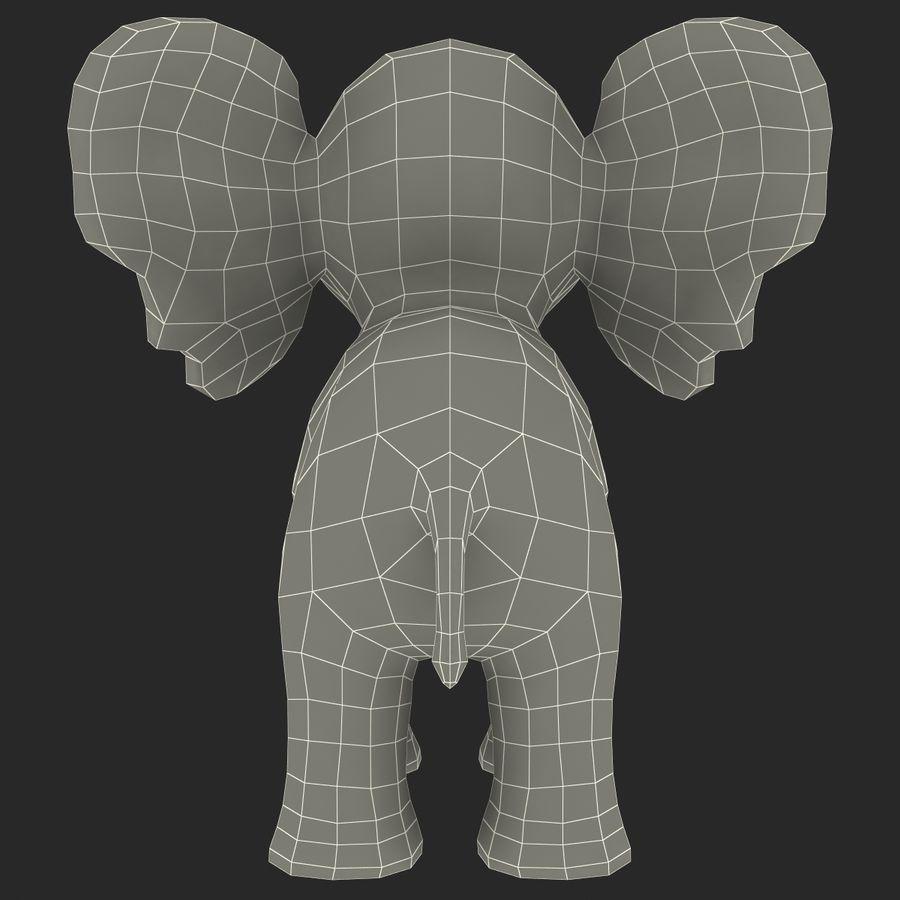 Éléphant de dessin animé royalty-free 3d model - Preview no. 29
