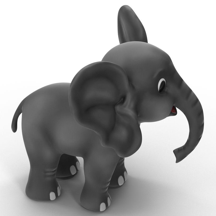 Éléphant de dessin animé royalty-free 3d model - Preview no. 10