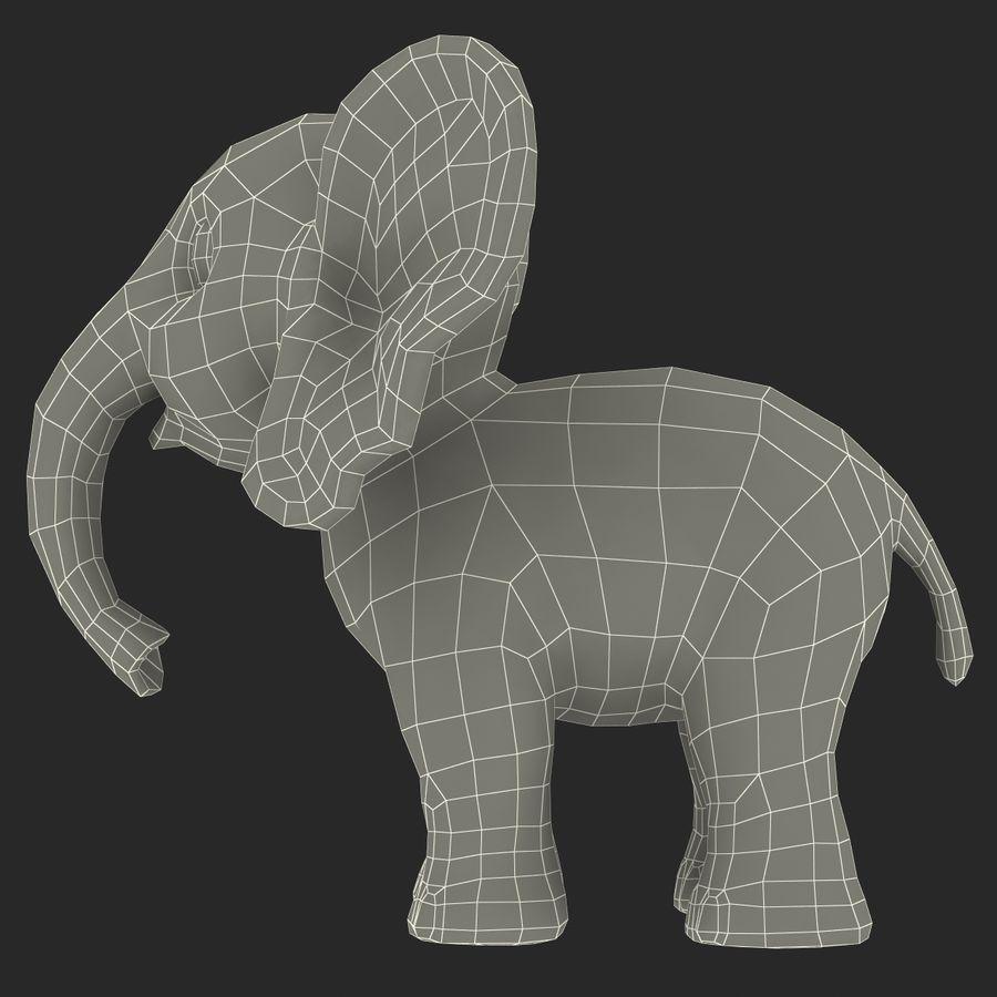 Éléphant de dessin animé royalty-free 3d model - Preview no. 28