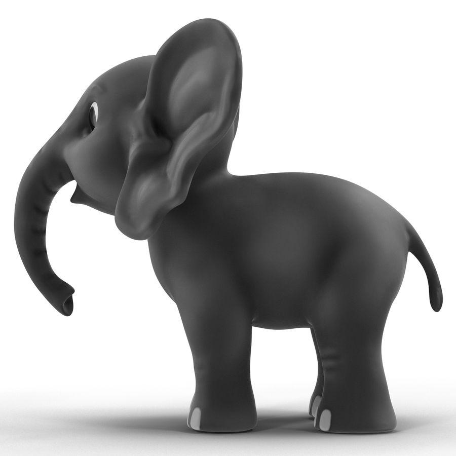 Éléphant de dessin animé royalty-free 3d model - Preview no. 5