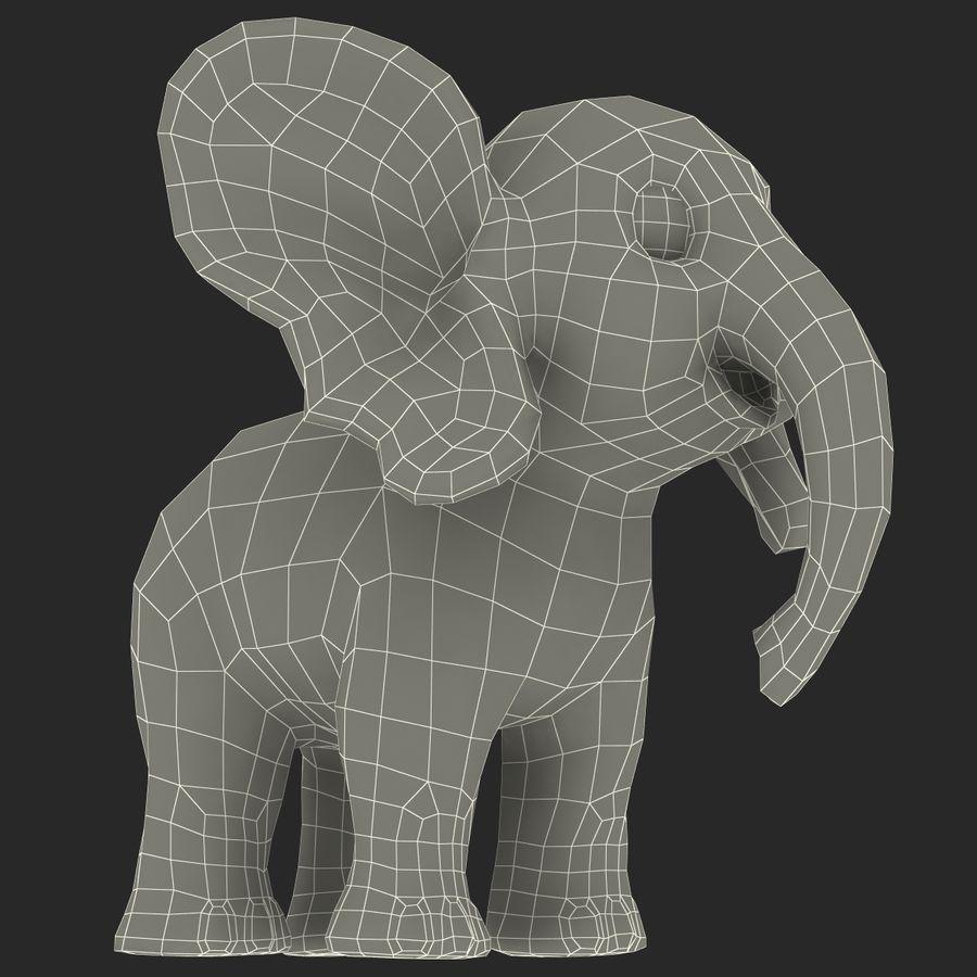 Éléphant de dessin animé royalty-free 3d model - Preview no. 32