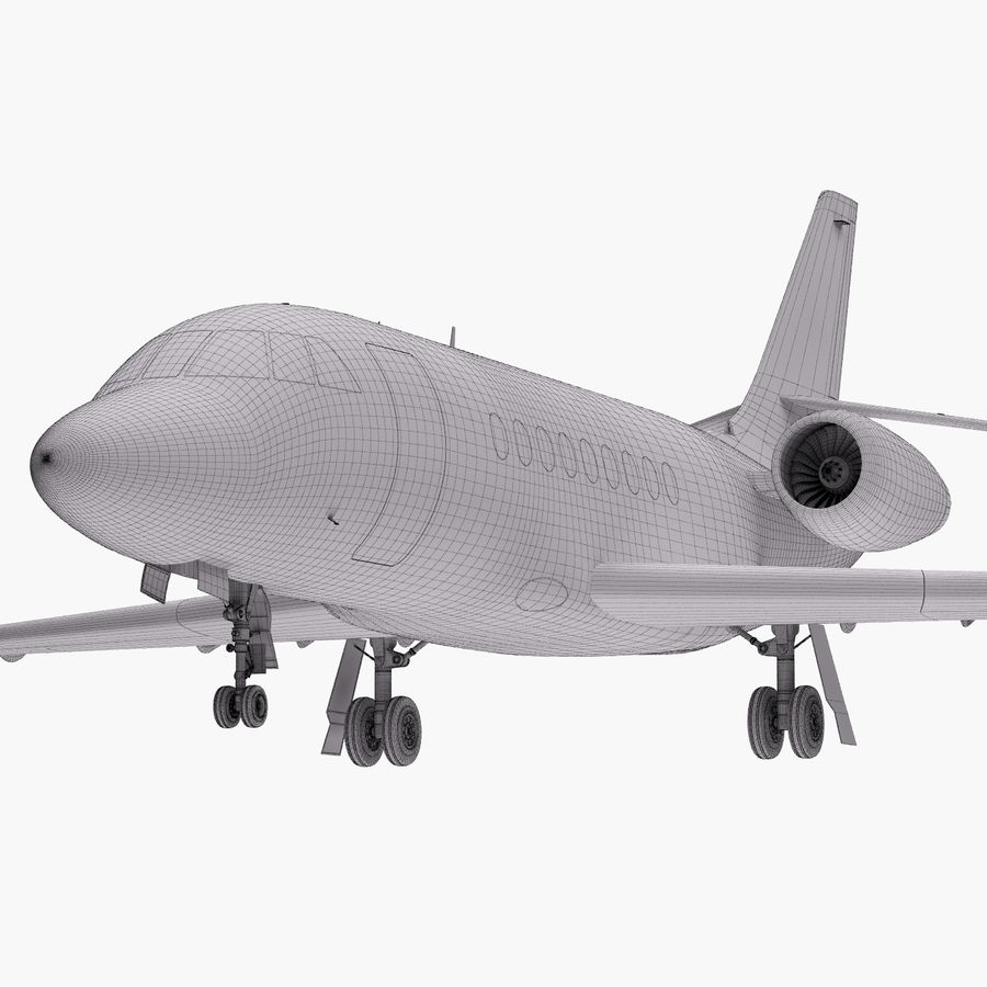 Dassault Falcon 2000LXS 6 royalty-free 3d model - Preview no. 32