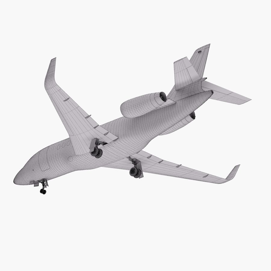 Dassault Falcon 2000LXS 6 royalty-free 3d model - Preview no. 30