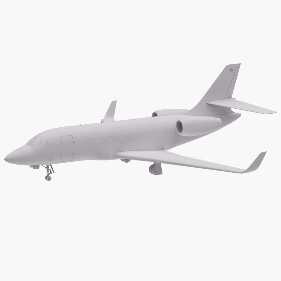 Dassault Falcon 2000LXS 6 royalty-free 3d model - Preview no. 12