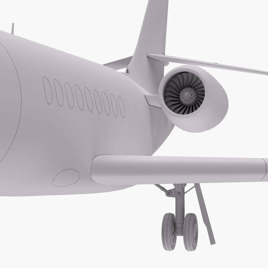 Dassault Falcon 2000LXS 6 royalty-free 3d model - Preview no. 19