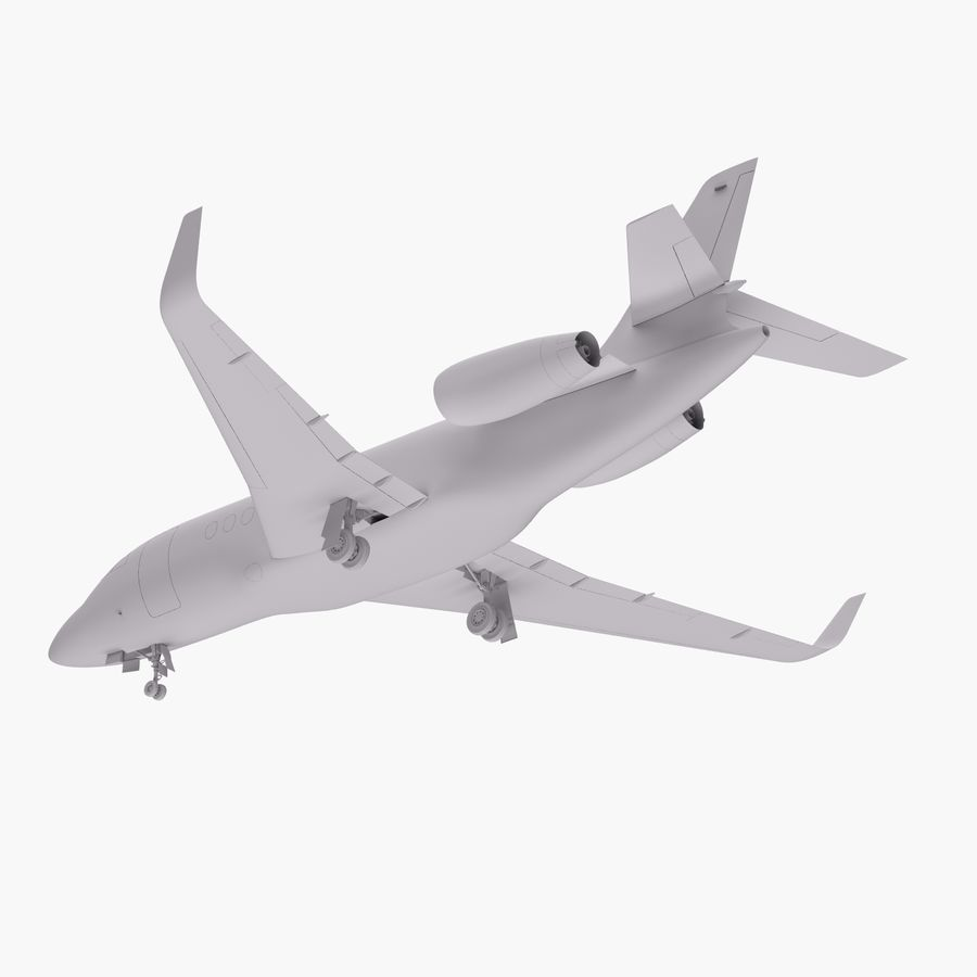 Dassault Falcon 2000LXS 6 royalty-free 3d model - Preview no. 14