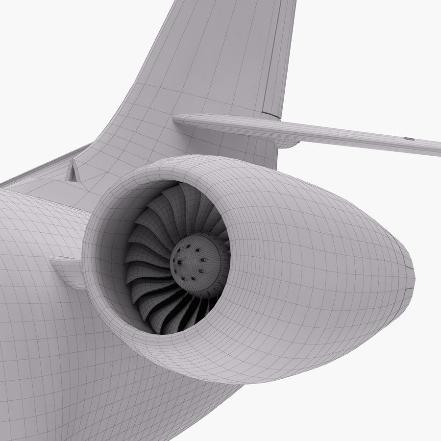 Dassault Falcon 2000LXS 6 royalty-free 3d model - Preview no. 43