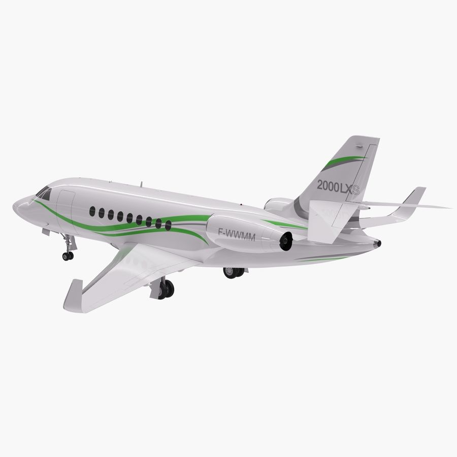 Dassault Falcon 2000LXS 6 royalty-free 3d model - Preview no. 11