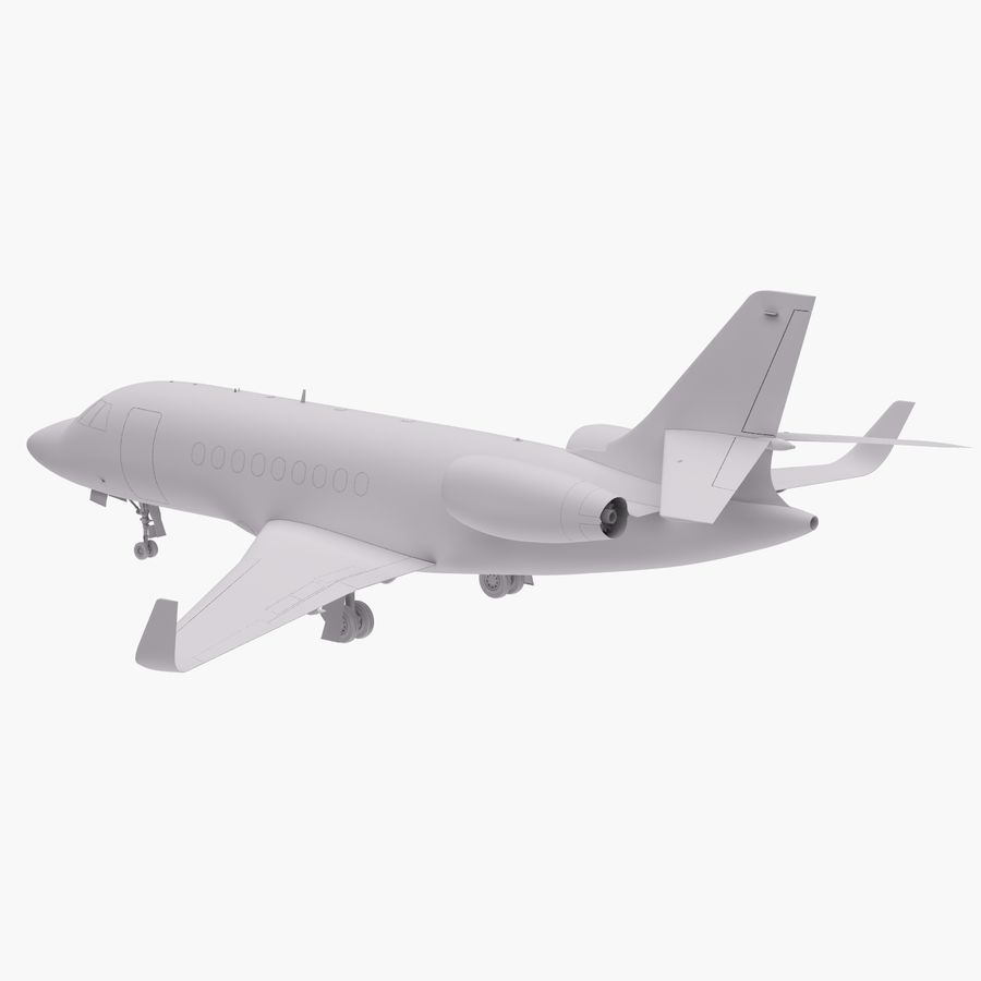 Dassault Falcon 2000LXS 6 royalty-free 3d model - Preview no. 13