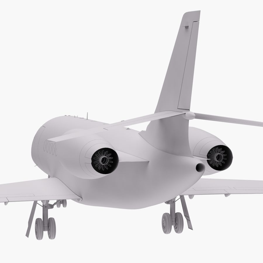 Dassault Falcon 2000LXS 6 royalty-free 3d model - Preview no. 20