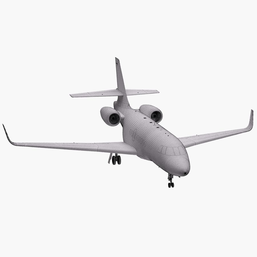 Dassault Falcon 2000LXS 6 royalty-free 3d model - Preview no. 31