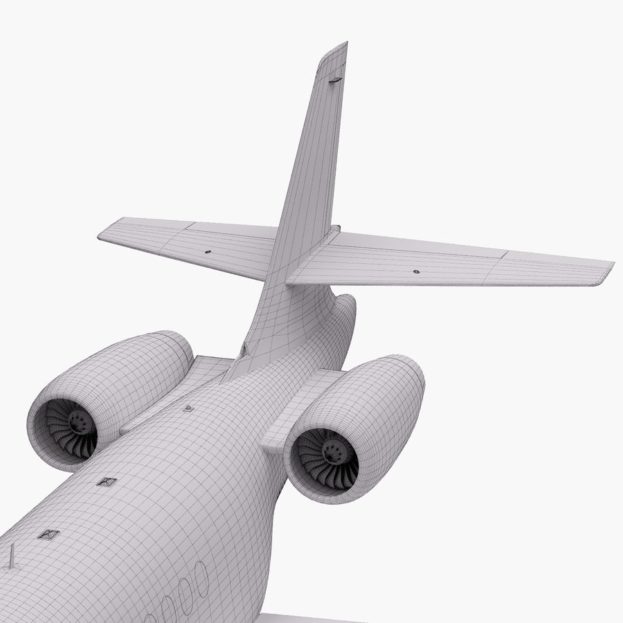 Dassault Falcon 2000LXS 6 royalty-free 3d model - Preview no. 37