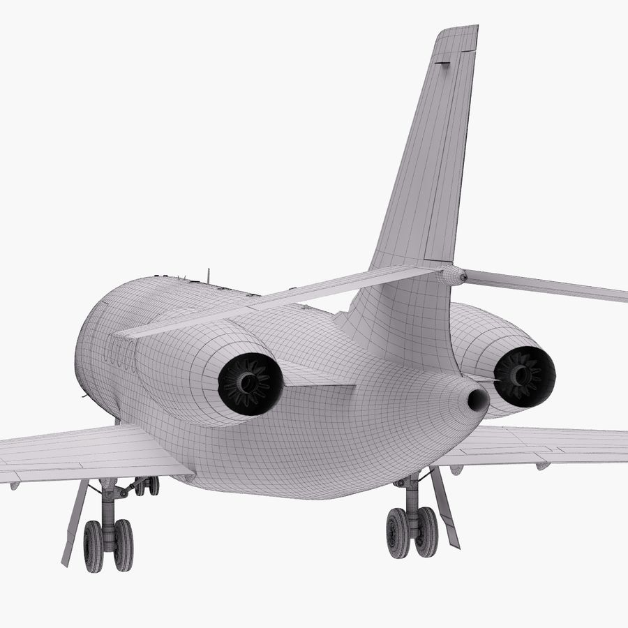 Dassault Falcon 2000LXS 6 royalty-free 3d model - Preview no. 36
