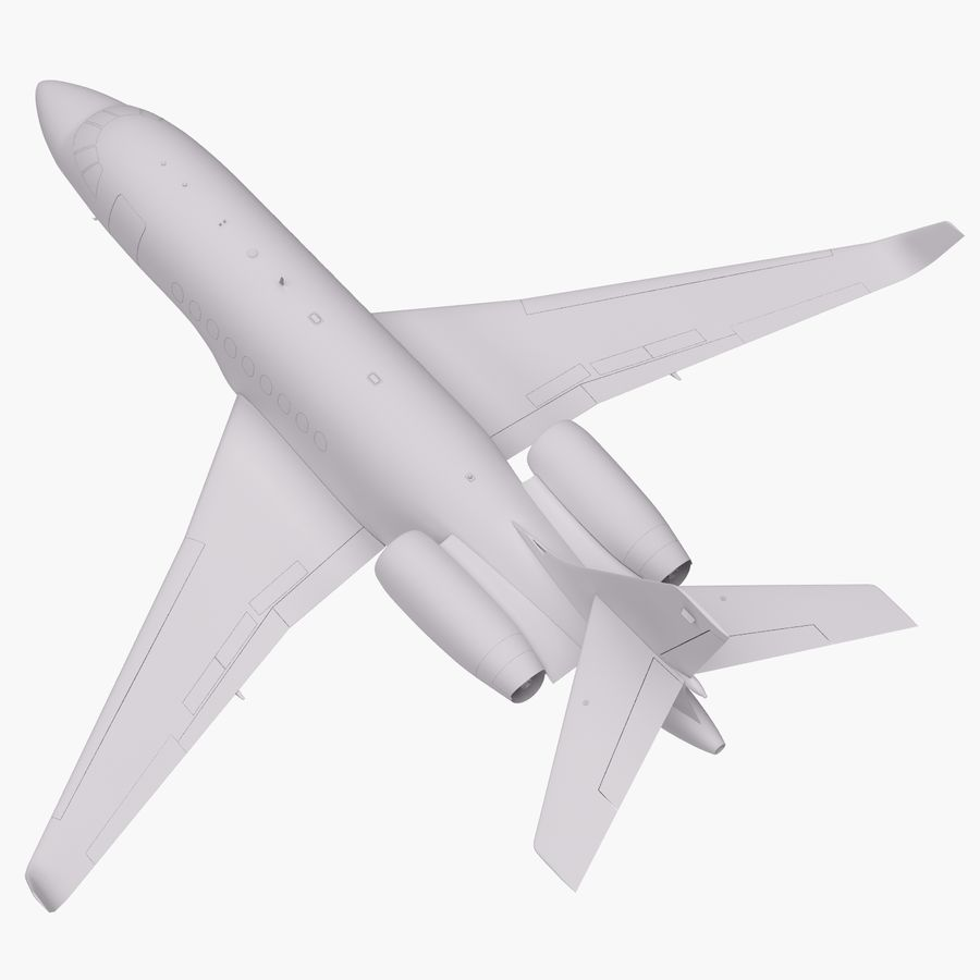Dassault Falcon 2000LXS 6 royalty-free 3d model - Preview no. 26