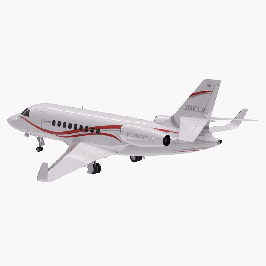 Dassault Falcon 2000LXS 6 royalty-free 3d model - Preview no. 3