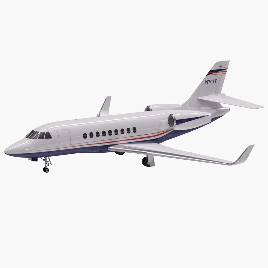 Dassault Falcon 2000LXS 6 royalty-free 3d model - Preview no. 8