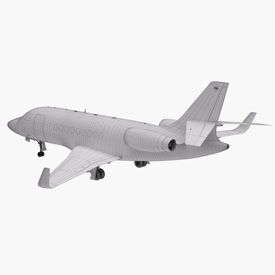 Dassault Falcon 2000LXS 6 royalty-free 3d model - Preview no. 29