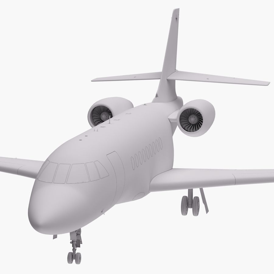 Dassault Falcon 2000LXS 6 royalty-free 3d model - Preview no. 25