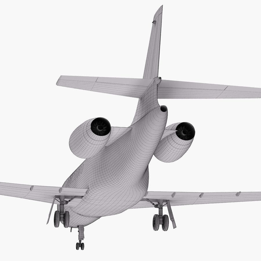 Dassault Falcon 2000LXS 6 royalty-free 3d model - Preview no. 38