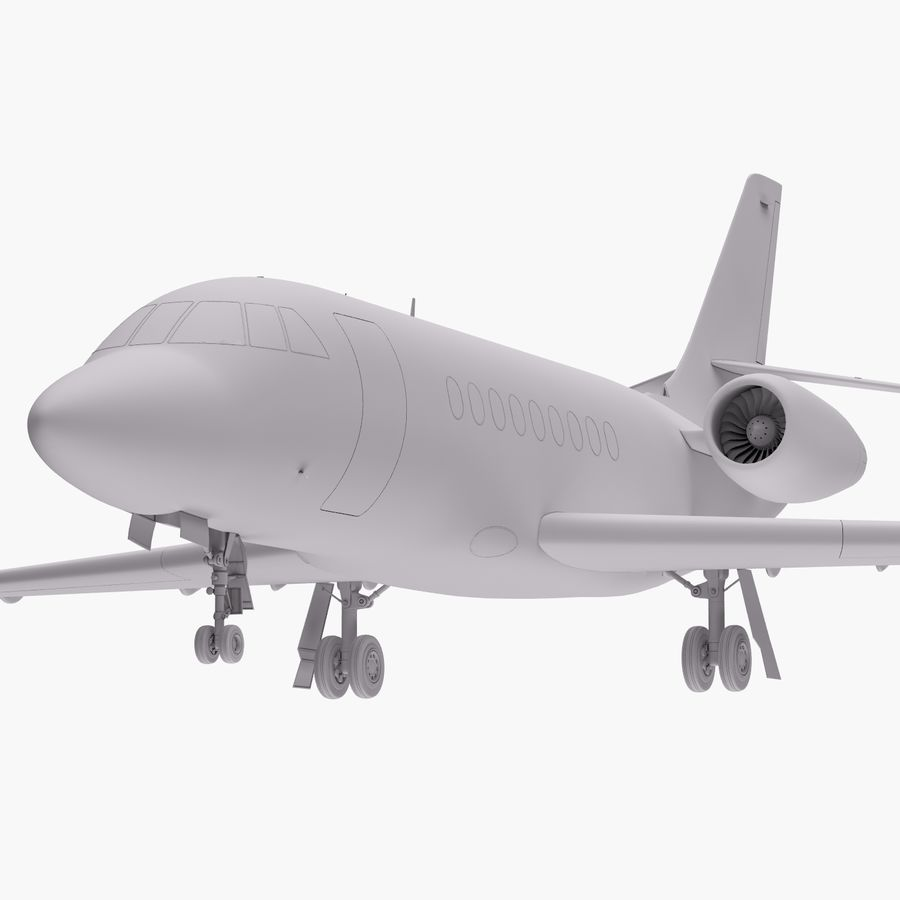 Dassault Falcon 2000LXS 6 royalty-free 3d model - Preview no. 16