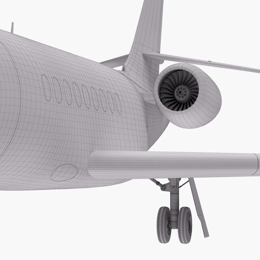 Dassault Falcon 2000LXS 6 royalty-free 3d model - Preview no. 35