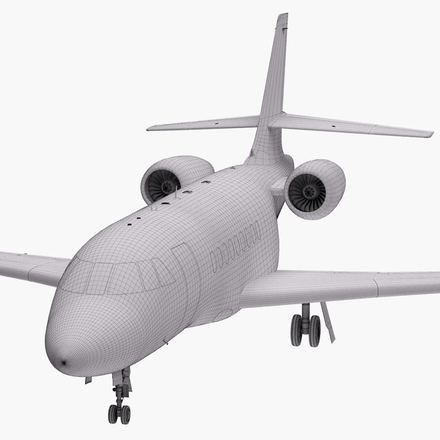 Dassault Falcon 2000LXS 6 royalty-free 3d model - Preview no. 41